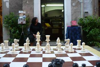 scacco matto in piazza Ansidei - Perugia
